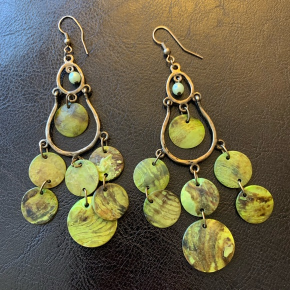 Jewelry - Green Chandelier Earrings